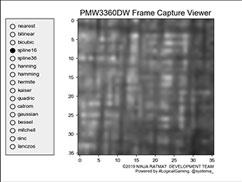 表面のセンサー取得画像